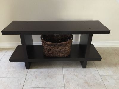 Brown Entryway Bench storage
