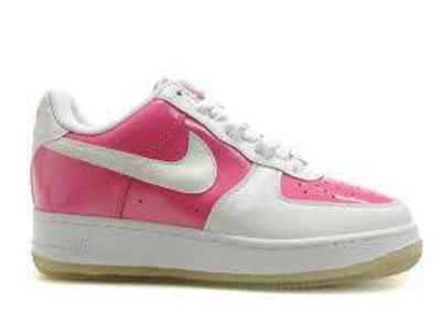 Girls Vivid Pink & White NIKE AIR FORCE 1. Sz-3