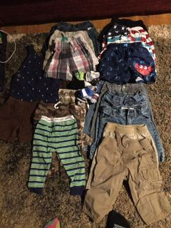 12 month pants and shorts