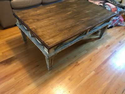 Coffee table + 2 side tables, solid wood