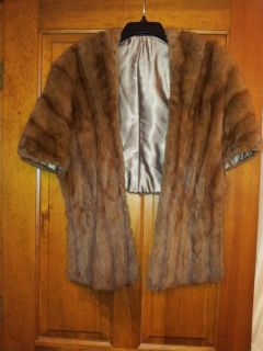 medium brown squirrel fur stole vintage