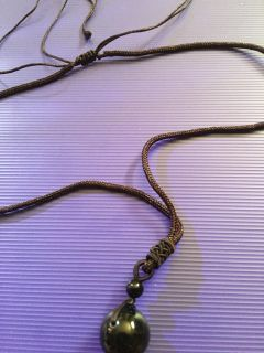 Knotted rope black Obsidian necklace