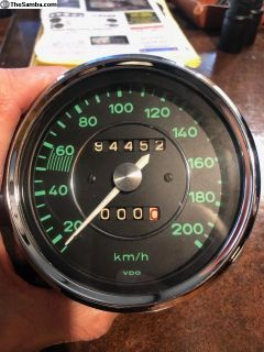 356 Speedometer REBUILT and never installed Km/h