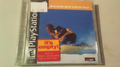 Snowboarding PlayStation game