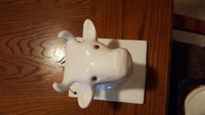 ceramic cow towel & apron hanger
