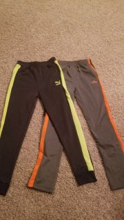 Large, 14-16, 2 pair gym pants, Puma and Spalding excellent condition!