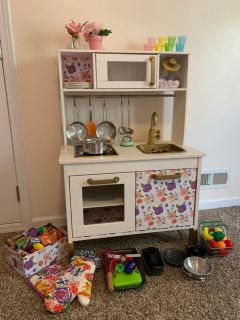 Custom play kitchen