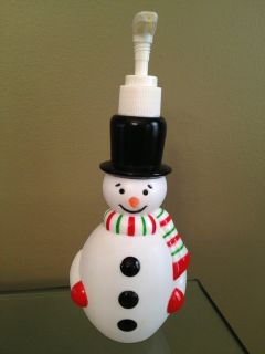 Christmas Snowman Soap Dispenser