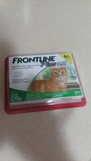 Frontline plus for cats 6 doses in sealed package not the right brand bought a couple months ago