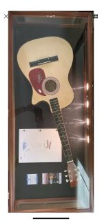 Up in Smoke script and signed guitar