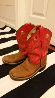 Girls Old West Leather Boots