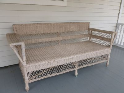 Antique Wicker Couch