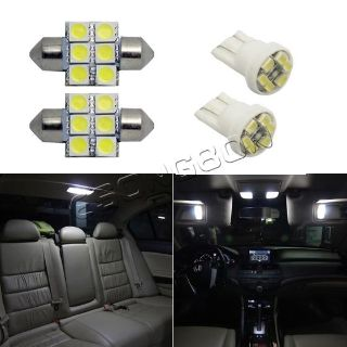 Find 6 White LED Package Deal Combo For Map Dome License Plate Lights T10 194 +DE3175 motorcycle in Cupertino, CA, US, for US $14.99