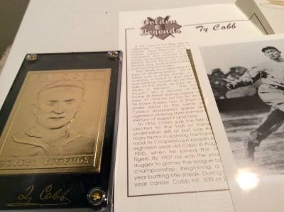 Ty Cobb Baseball Card--Golden Legends of Baseball