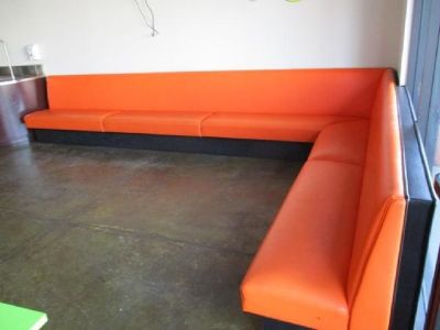 L-Shaped 16'x10' Orange Lobby Bench RTR#6101497-01