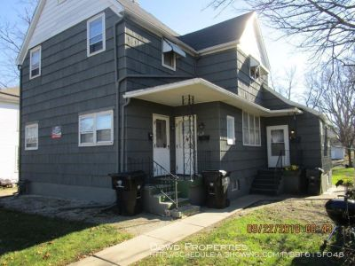 2 BR, 1 bath upper unit apt. Cats Ok, Tenant pays electric only. Available June 7th.