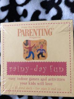 Games/activities cards for kids NEW