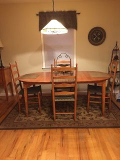 Dining Table, Chairs & Buffet