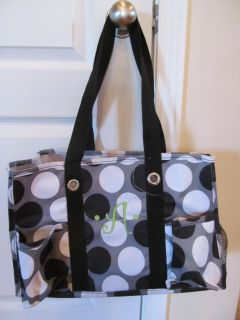 Thirty-One Organizing Utility Tote with 'A' (bottom a tad dirty, but overall very good condition)