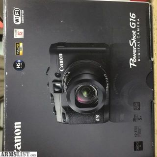 For Sale: Canon Powershot G16 and Waterproof Case (Canon WP-DC52)
