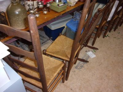 Ladder back, Caned Seat Chair Set of 6