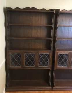 2 Ethan Allen Bookcases *Matching Pair* Book shelves shelving