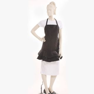 Salonwear.com - Ruffle Apron Silkara Iridescent Fabric in Bronze : NEW INVENTORY!!!