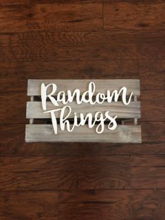 random things wooden crate