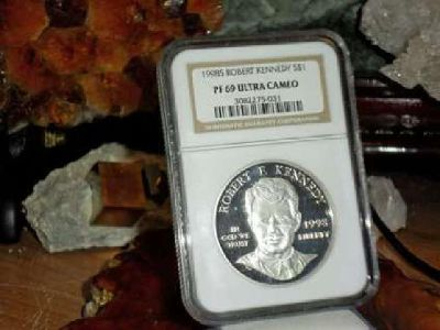 Exceptional Rare Robert F Kennedy Silver Commemorative Silver Dollar 1998-S NGC