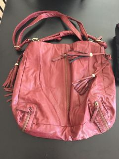 Large maroon bag new never used
