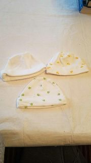 3 gender neutral carters 0-3mo hats