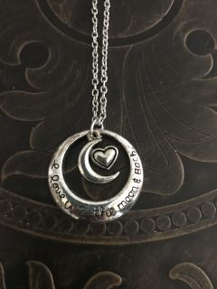 I love you to the moon and back necklace brand new