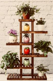 HANDCRAFTED MULTI-LEVEL PLANT STAND