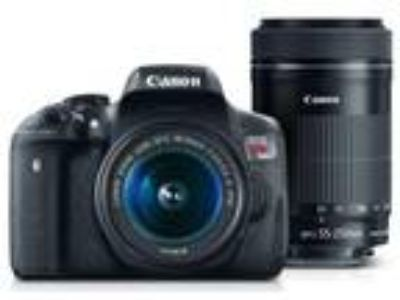 CANON EOS REBEL T6i DIGITAL SLR WITH 2 LENSES AND MORE