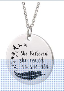 Inspirational Words Necklace