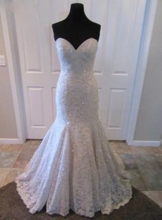 Marisol's Strapless Lace Wedding Gown