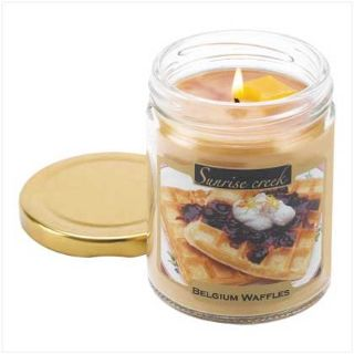 45-hrs Soy Scented Lidded Jar Candle ~ Belgium Waffles ~ New