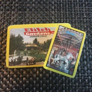 Set of 2 Elitch Gardens Playing Cards