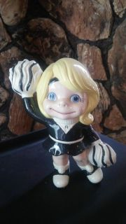 """Antique Ceramic Cheerleader """"A"""", mint condition, approx 8"""" Tall"""