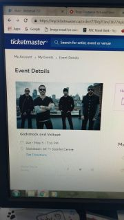 Godsmack and Volbeat 2 lower bowl tickets