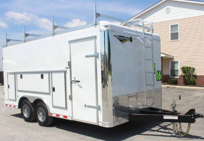 Millennium Work Mate, Contractors Dream Trailer 8.5 x 16'