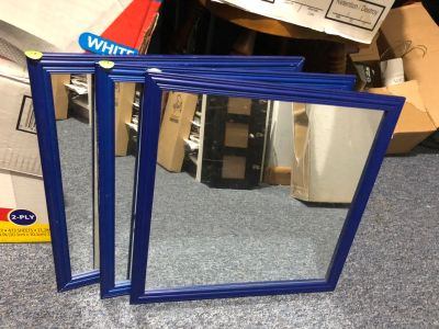 Set of 3 square mirrors