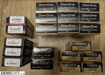 For Sale: 1027 rounds of various 9mm ammo