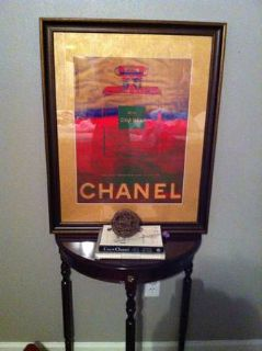 Chanel custom matted  framed picture $125