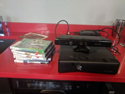 Xbox Kinect with 6 Games
