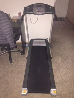Treadmill. Almost new. Hardly used. Less than 25 miles on it. Bought in 2017 for $300