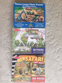 Melissa and Doug large/jumbo floor puzzles $ 15 for all or $6 each