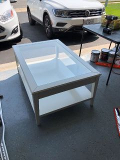 White IKEA coffee table