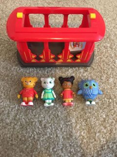 Daniel Tiger - trolley and characters - FREE
