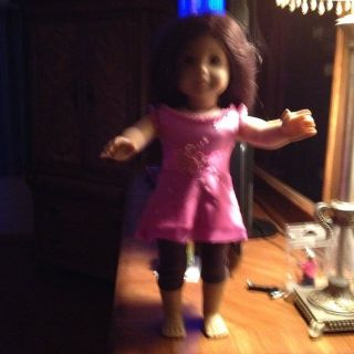 AMERICAN GIRL DOLL WITH OUTFIT.